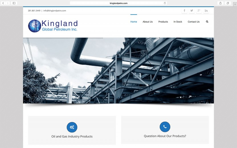 kingland-global-petroleum-website